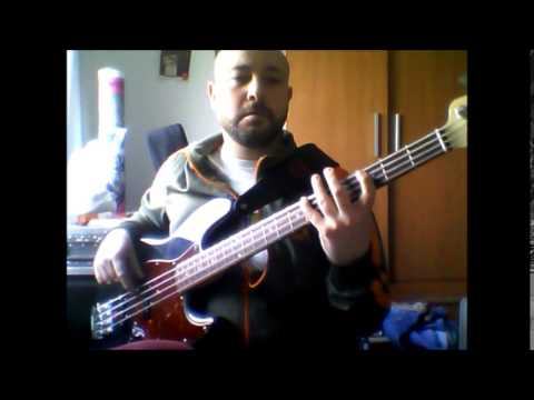 """Stevie Ray Vaughan """"Pride and joy"""" bass cover."""