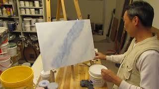 faux finish 仿飾漆 仿藍紋大理石 油漆diy / paint diy