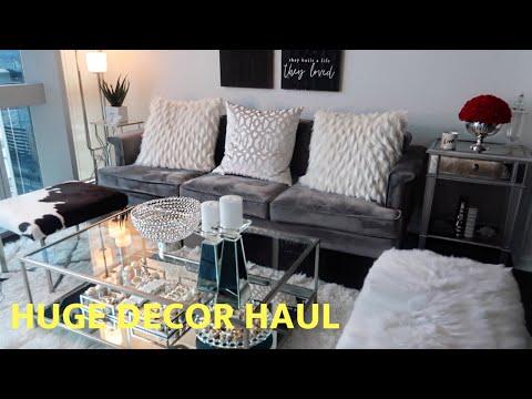 HUGE HOME DECOR HAUL + DECORATING IDEAS   GUINWA