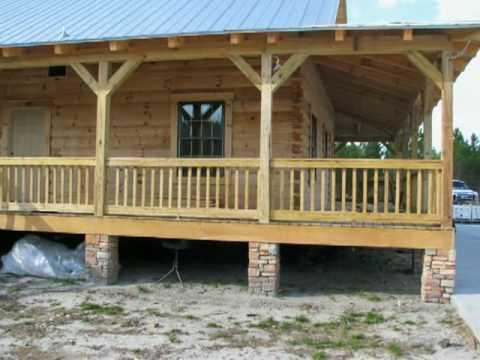 Cracker Style Log Homes  Sawgrass  YouTube