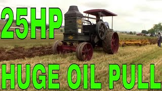 STEAM TRACTOR PLOWING A FIELD RUMELY ADVANCE OIL PULL 25-45H...