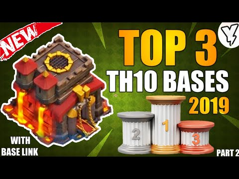 [NEW] TOP 3 BEST TH10 HYBRID/FARMING/DEFENSIVE BASE 2019 | TH10 BASE DESIGN TESTED WITH LINK!! - COC