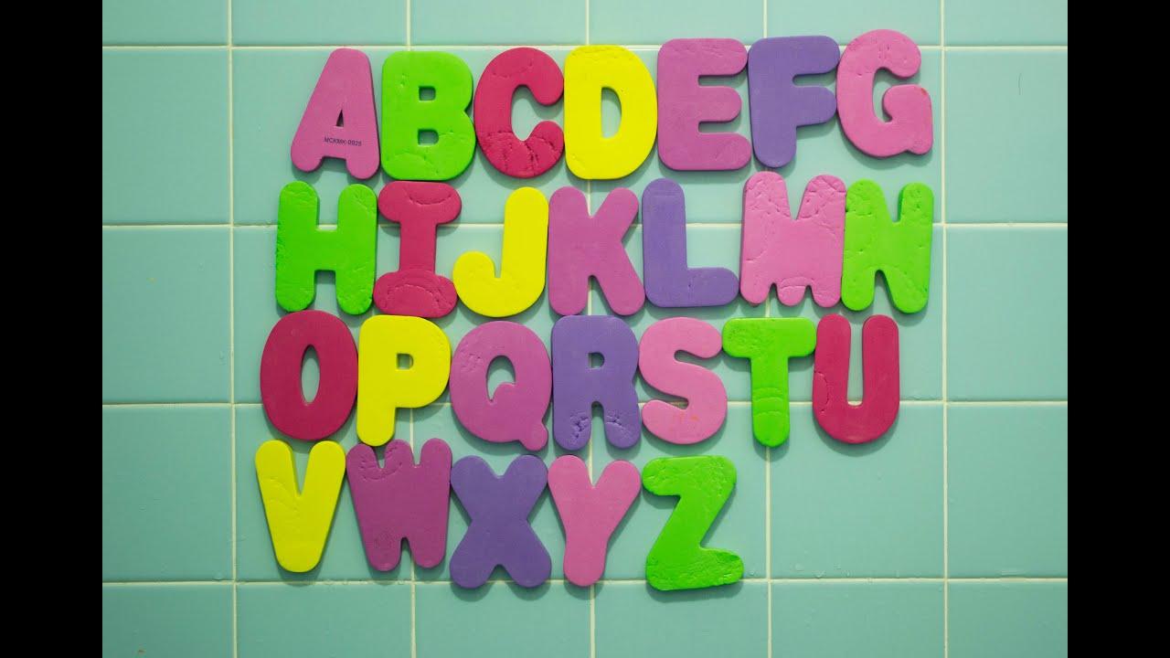 Bath Tub Foam Letters