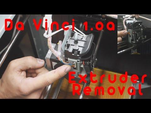 Da Vinci 1.0a Extruder Removal (2 camera angles)