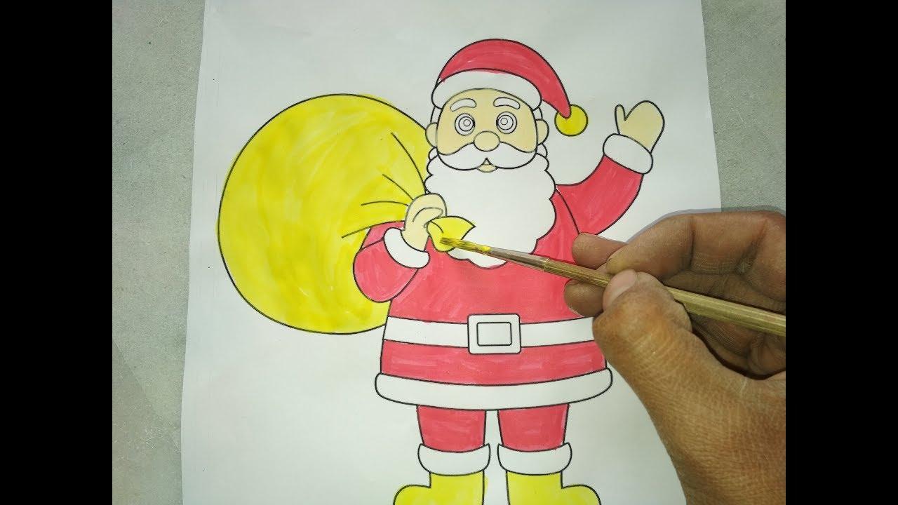 how to draw santa videos