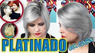 cabelo platinado em casa   do ruivo ao granny hair   tutorial