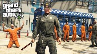 PRISON GUARD!! (GTA 5 Mods PLAY AS A COP MOD)