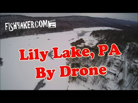 Lily Lake, Luzerne County, Pennsylvania - Early Winter By Drone