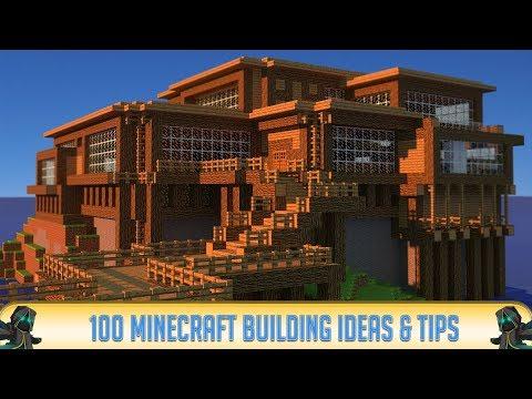 100 MINECRAFT BUILDING IDEAS! (Minecraft 1.10 & 1.9 - 2016) PC, Xbox 360, PS3, PE Building Ideas!
