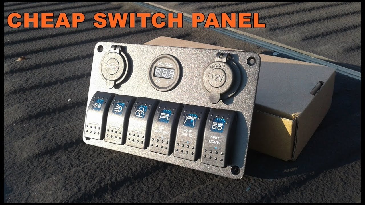 CHEAP EBAY SWITCH PANEL! - YouTube on 2 gang switch wiring diagram, 5-way light switch diagram, two gang electrical box wiring diagram, 4 gang switch box, 4 float switch wiring diagram, cooker unit wiring diagram, 4 light wiring diagram, basic boat wiring diagram,