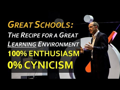 What makes a Great School? 100% Enthusiasm, 0% Cynicism... or lots of Music