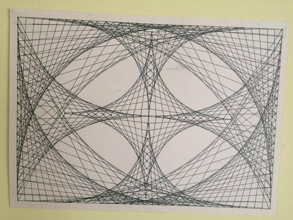 Dessin Geometrique Avec Juste Une Regle Et Un Crayon Youtube