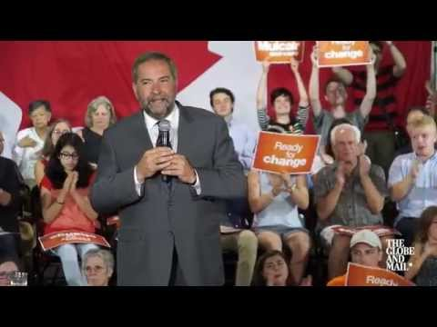 Thomas Mulcair argues $15 a day childcare will benefit economy
