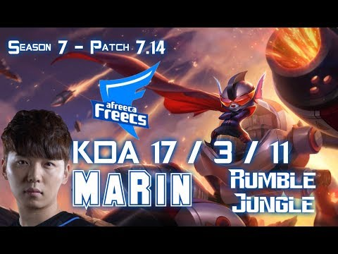 AFs MaRin RUMBLE vs SEJUANI Jungle - Patch 7.14 KR Ranked