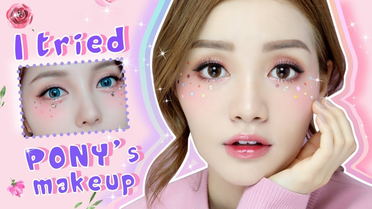 I TRIED TO FOLLOW PONY'S MAKEUP - ft  NiceEyes Contact Lenses