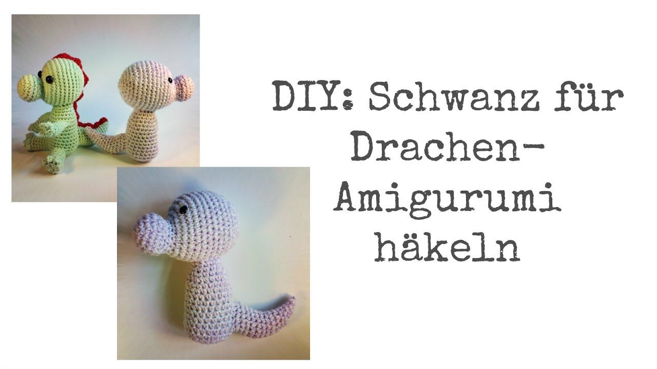 DIY: Schwanz für Drachen- oder Tier-Amigurumi häkeln - YouTube