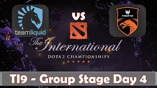Liquid vs TNC | The International 2019 | Dota 2 TI9 LIVE | Group Stage Day 4