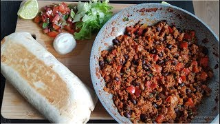 Easy Loaded Beef and Bean Burrito - Recipe (Better than Taco Bell!)