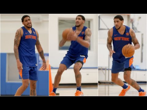 First Look Obi Toppin WORKING At The Knicks Practice Facility
