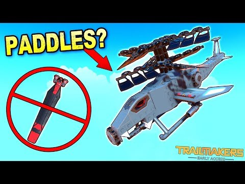 Can I Make a Helicopter Fly WITHOUT Helicopter Blades? - Trailmakers Early Access Gameplay