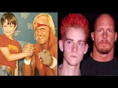 10 WWE Wrestlers as Kids Meeting Wrestlers in Real Life