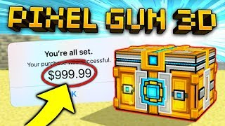 $1000 HUGE CHEST OPENING! I WON SO MANY WEAPONS! | Pixel Gun 3D [New Update]