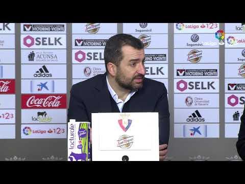 Rueda de prensa de Diego Martínez tras el Osasuna vs CF Reus (0-0)