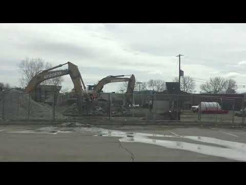 Bill Willard concrete plant on King Street in Northampton torn down