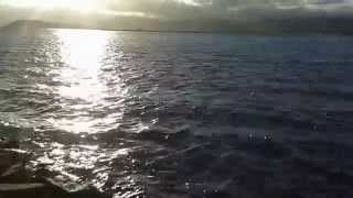 Free Video Background 9: Ocean Waves Against a Setting Sun, No Sound: Photography Passions