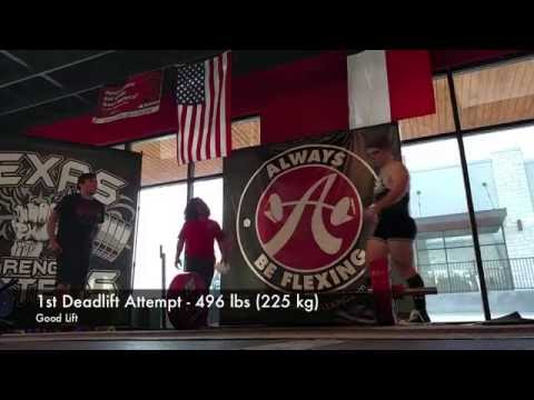 2016 USAPL Central Texas Classic Powerlifting Meet - Nicholas Taylor - Raw Teen 3 93kg