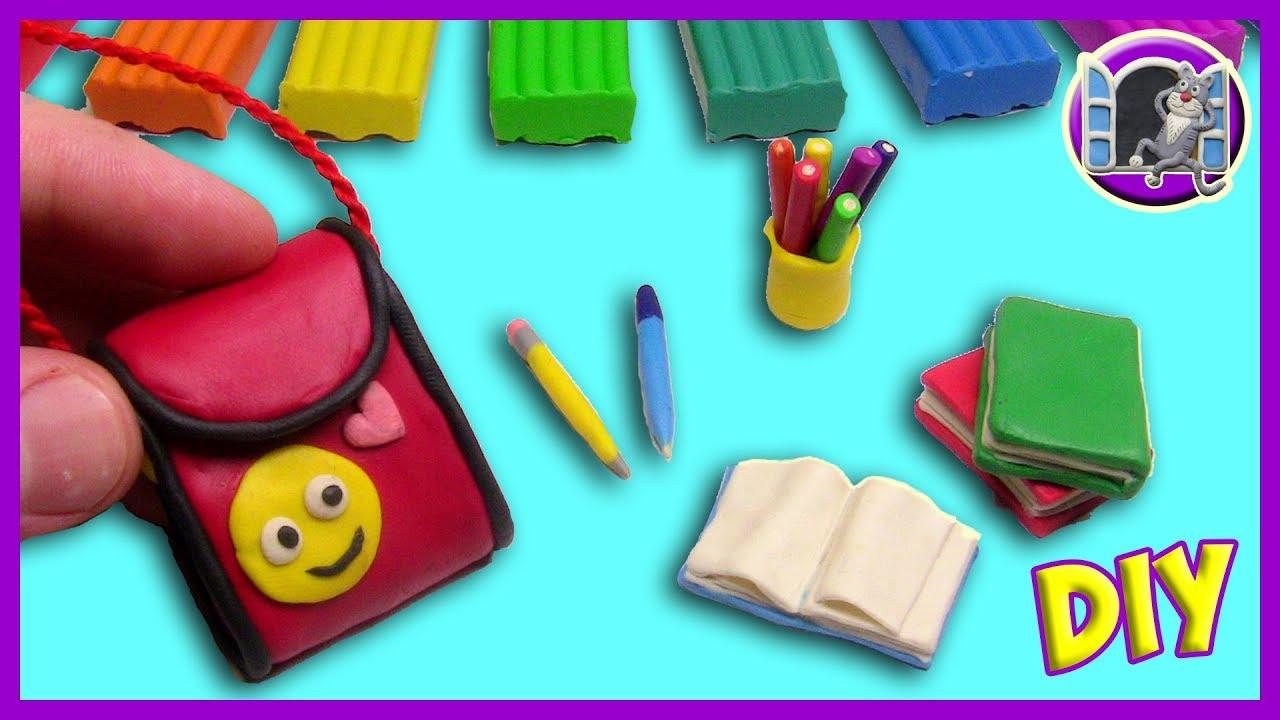 Как сделать ручку для школы из пластилина