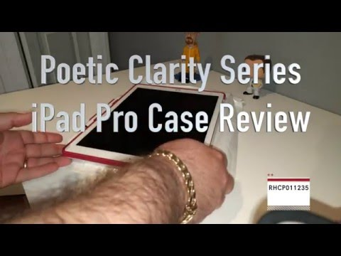 Poetic [Clarity Series]-[Keyboard Compatible][Pencil Holder] TPU Case Unboxing and Review [4K]