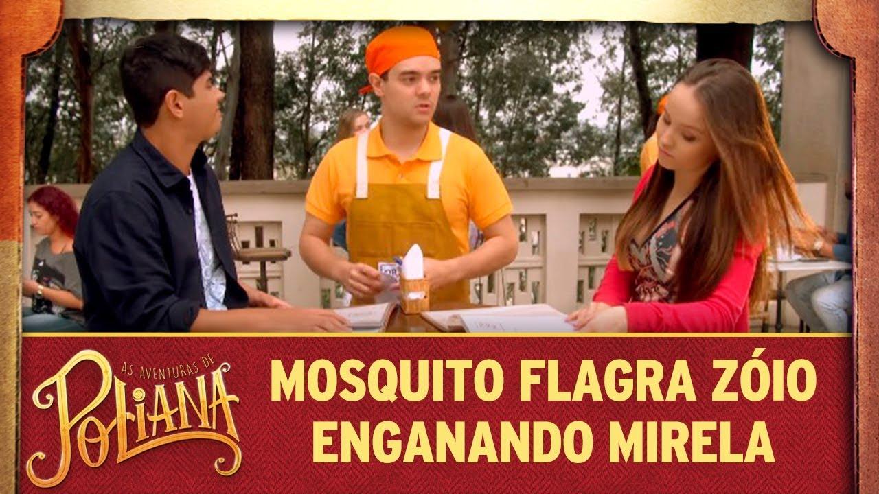 Mosquito flagra Zóio enganando Mirela | As Aventuras de Poliana