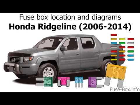 2006 Honda Ridgeline Fuse Box Diagram Wiring Schematic Diagram