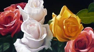 Como pintar rosas al óleo
