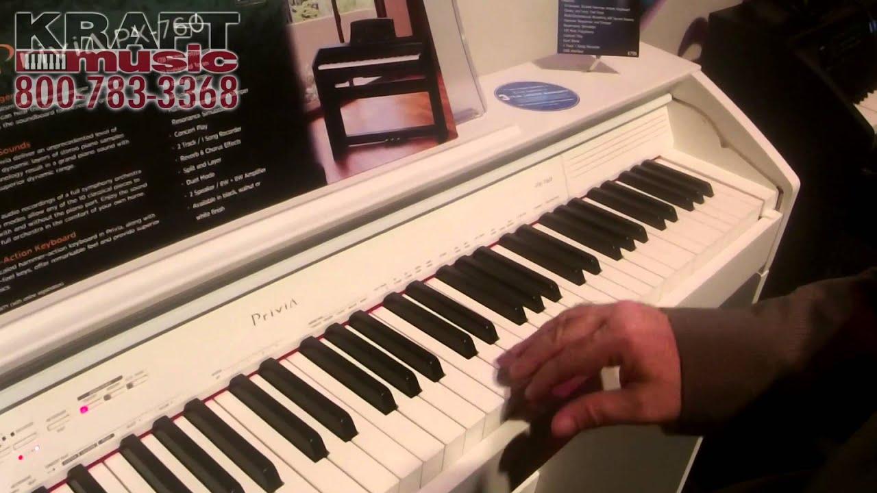 Kraft Music - Casio Privia PX760 Digital Piano White NAMM 2015 .