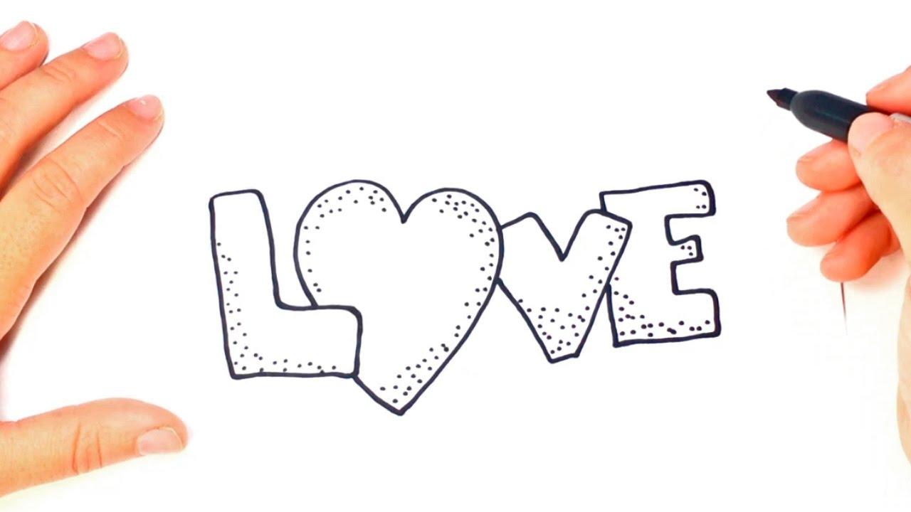 Como Dibujar La Palabra LOVE Paso A Paso