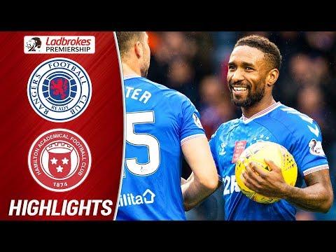 Rangers 5-0 Hamilton | Defoe Hat-Trick Sends Rangers Top | Ladbrokes Premiership