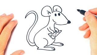 Como dibujar un Raton paso a paso | Dibujo facil de Raton