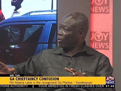GA Chieftaincy Confusion - AM Talk on JoyNews (26-10-17)