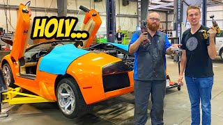 Cutting Holes In My Lamborghini Murcielago To Fix It??? But Then We Broke It Again!