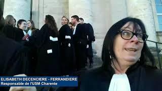 Manifestation contre la réforme de la justice devant le tribunal d'Angoulême