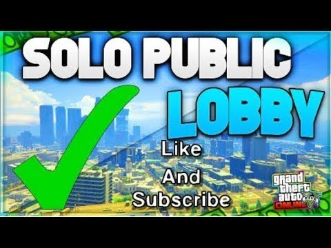 How To Get Into a Solo Public Session in GTA V 100% Working