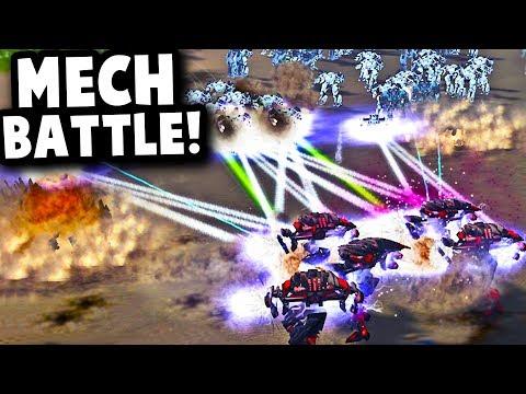 HUGE FUTURISTIC MECH BATTLE! | Supreme Commander Forged Alliance Mod Gameplay
