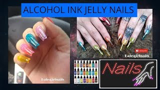 HOW TO: Alcohol Ink Jelly Nails!!! Very Pigmented Colors!! EASY