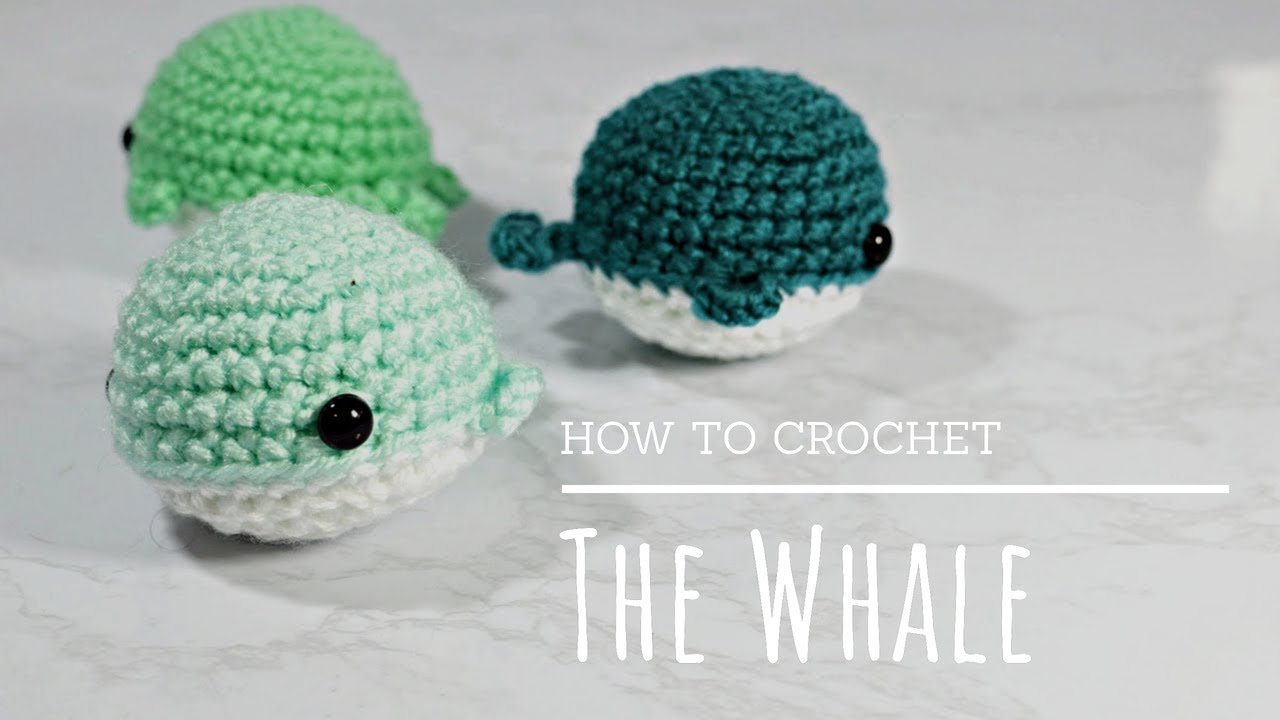 How To Crochet Easy Beginners Amigurumi Whale Tutorial Youtube