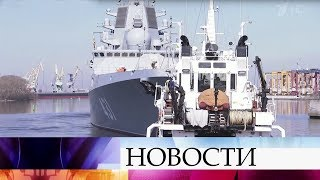 В Санкт-Петербурге президента знакомят с новинками российского Военно-морского флота.