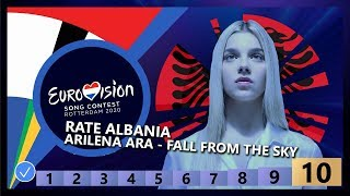 🇦🇱RATE ALBANIA - Arilena Ara - Fall From The Sky - Albania Eurovision 2020