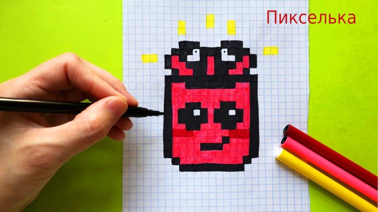 Как Рисовать Кавайный Apple AirPods по клеточкам ♥ Рисунки по Клеточкам