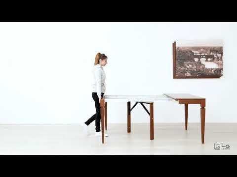 Tavolo Allungabile Lg Lesmo.Tavolo Consolle Allungabile Classica Arte Povera 14 Posti Lg Lesmo